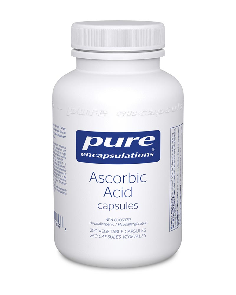 Ascorbic Acid Capsules by Pure Encapsulations sold by Replenish AcuSpa